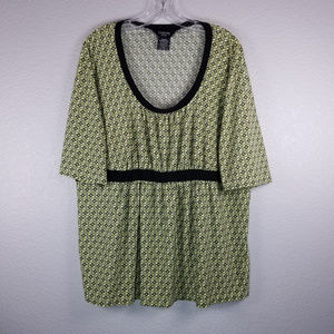 George green print blouse size 2X